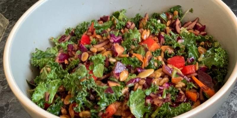 kale salad recipe photo